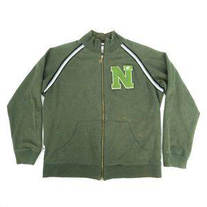 Nike Men's Track Jacket Full Zip Mock Neck Green L